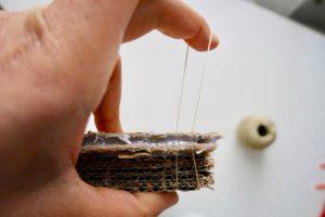 cardboard loom tutorial dressing the loom warping loom