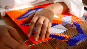 cardboard loom weaving