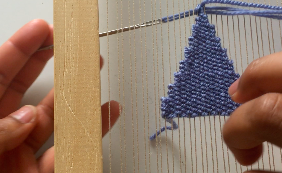 weaving shapes triangle