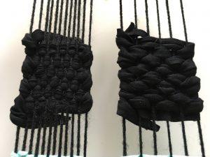 low density warp weaving thick yarn