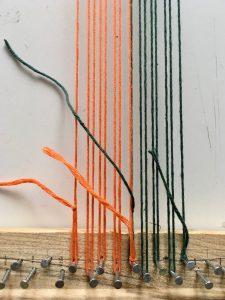 weaving warp different colors two colors