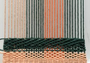 weaving warp different colors four colors