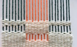 weaving warp different colors three colors