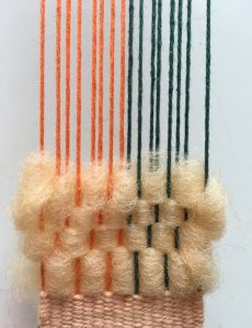 weaving warp different colors two colors