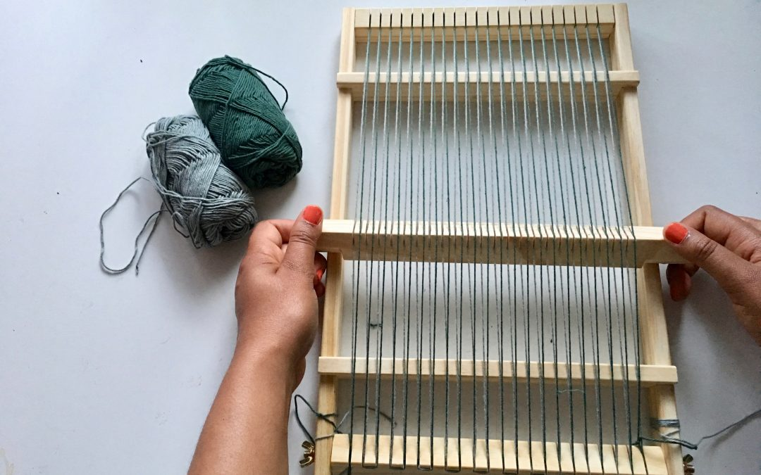 Double warping frame loom: Weaving Techniques