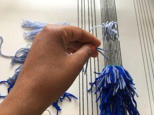 color gradation in weaving rya knots