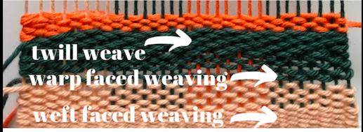weaving warp different colors four colors