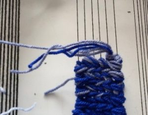 color gradation in weaving soumak weave