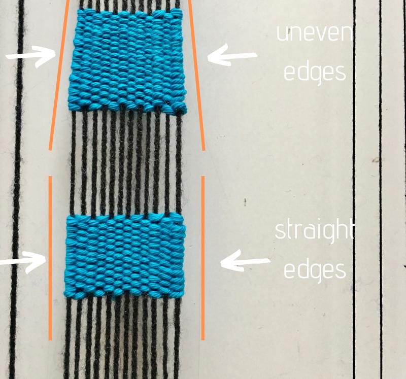 weaving problems uneven edges weave straight edges