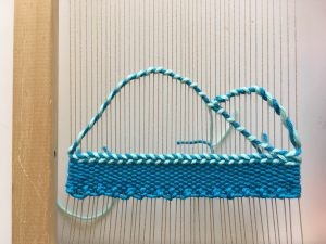 scalloping with Twining: Weaving Technique