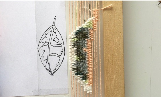 Cartooning Weaving Technique: How to weave a picture on a loom