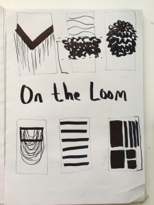 weaving design composition on the loom