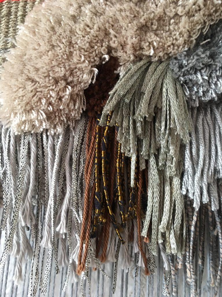 Rya knots weaving pattern