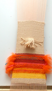 weaving a pouch on a frame loom