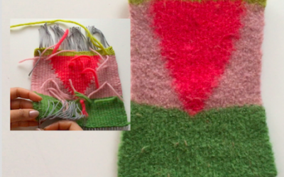 10 Steps for Weaving and Felting Yarn on the Loom