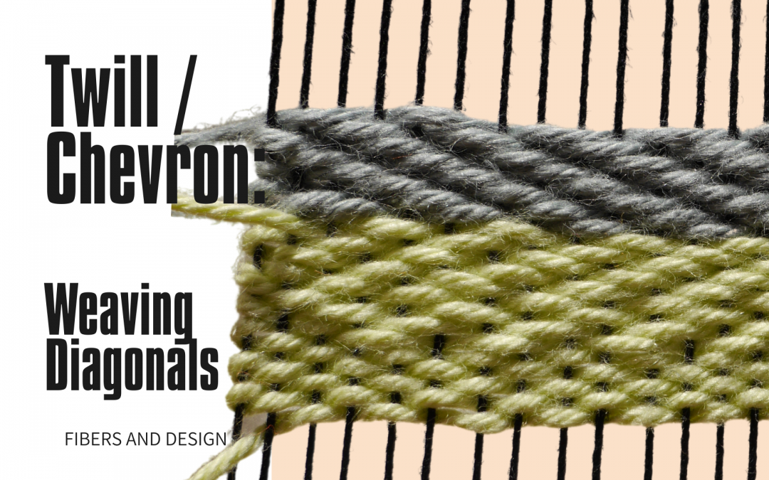 Twill and Chevron Weave Pattern : Basic Weaving Patterns