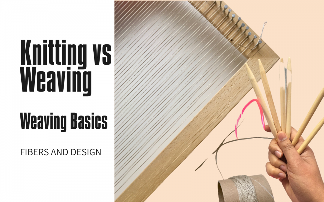 What is the difference between knitting and weaving?