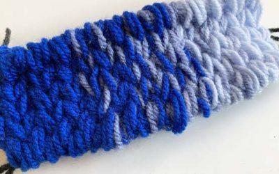 Gradient colors weaving with soumak weave: Weaving Color