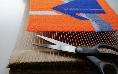 How to take warp off a cardboard loom – take weaving off the loom (with picture instructions)