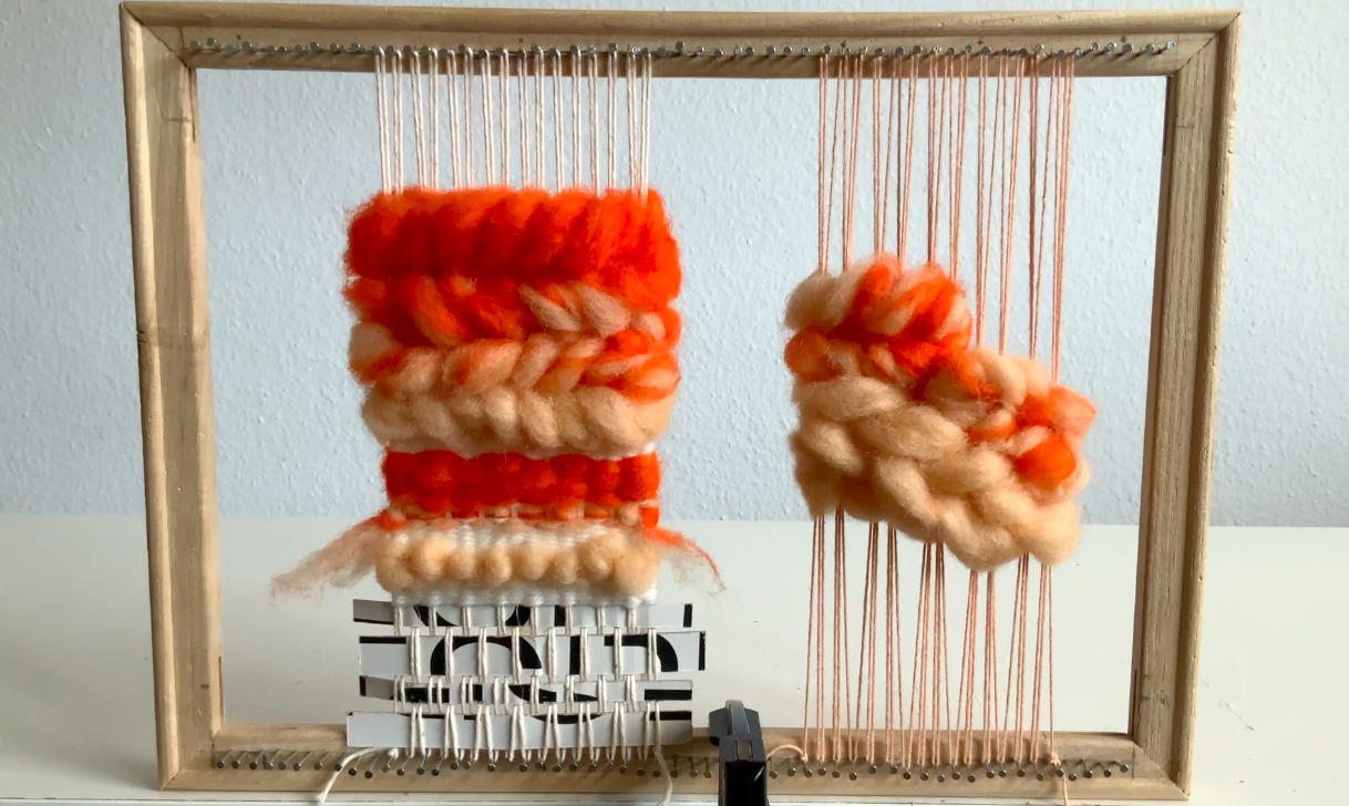weaving with wool roving